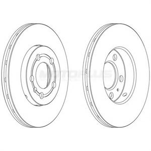 Obrázok pre výrobcu Brzdový kotúč FERODO PREMIER (sada 2ks)