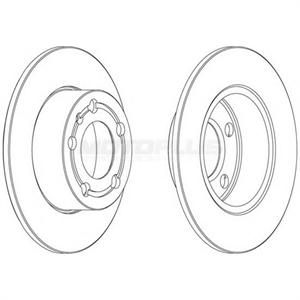 Obrázok pre výrobcu Brzdový kotúč (sada 2ks)