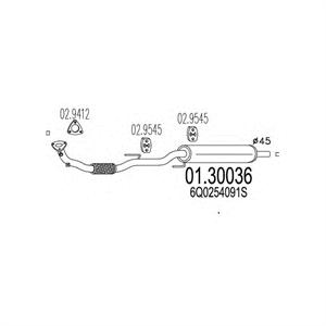 Obrázok pre výrobcu Výfuk SEAT IBIZA, SKODA FABIA, ROOMSTER, VOLKSWAGEN POLO