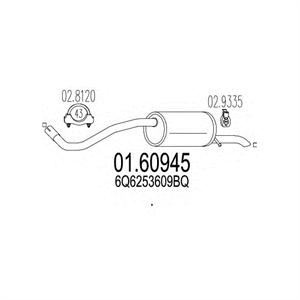 Obrázok pre výrobcu Výfuk SEAT IBIZA, SKODA FABIA, VOLKSWAGEN POLO koncový diel