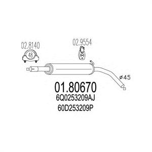 Obrázok pre výrobcu Výfuk SEAT CORDOBA, IBIZA, SKODA FABIA, VOLKSWAGEN POLO