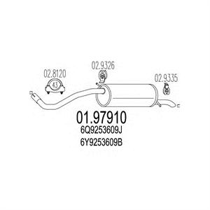 Obrázok pre výrobcu Výfuk SEAT CORDOBA, SKODA FABIA