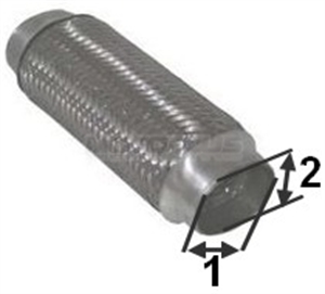 Obrázok pre výrobcu Výfukové potrubie - opravné ZL 42/63,5x230
